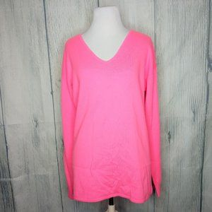 Womens Vineyard Vines Wool Cashmere Pink Sweater M